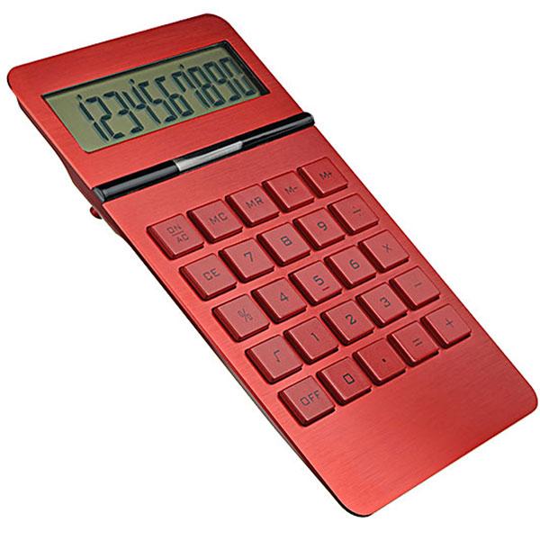 Taschenrechner in rot