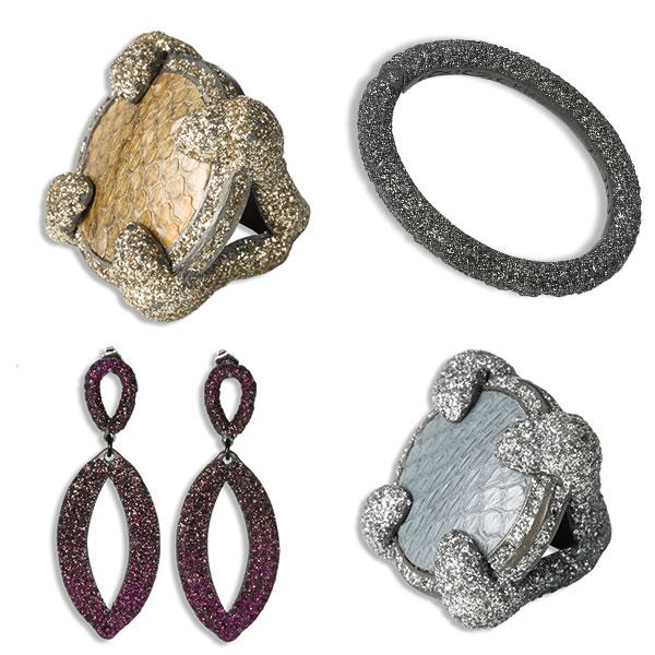 KMO_Schmuck aus Silber als Ohrring, Statementring und Armband