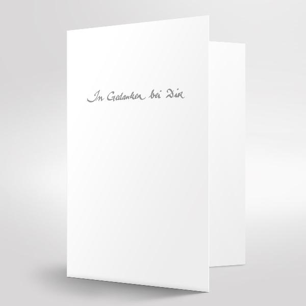 Trauerkarte in Gedanken bei Dir