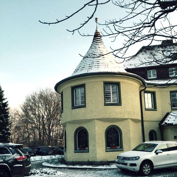 Der Turm von Schumanns Wohlfühlhotel