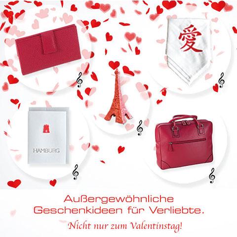 Collage von Geschenke zum Valentinstag