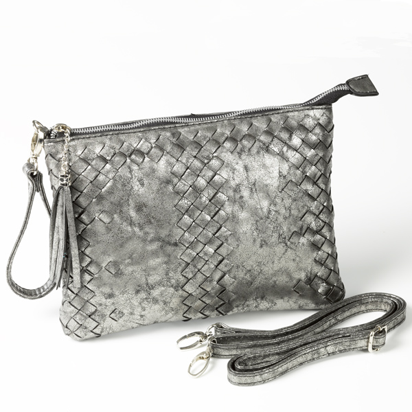 Pochette Pica in metallic anthrazit