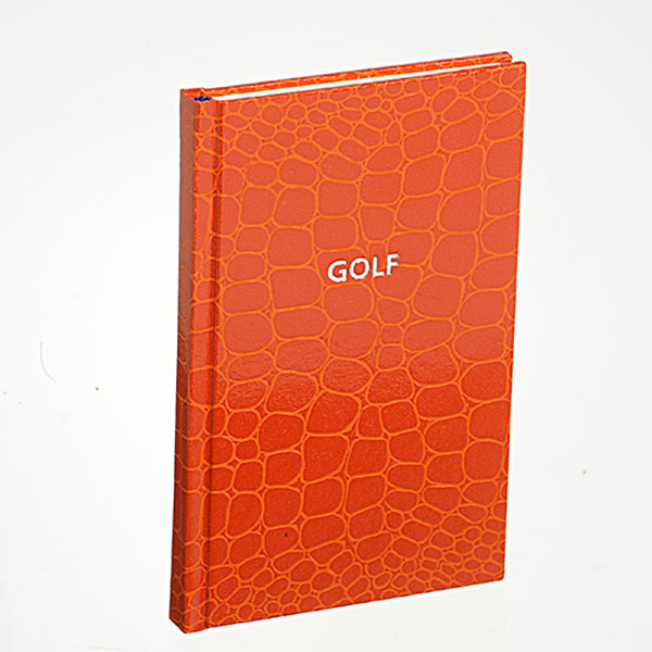 Golftagebuch in orange