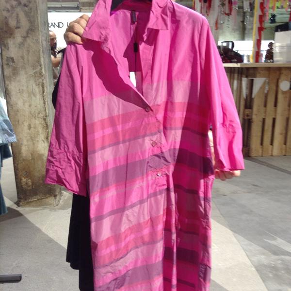 Taft - Polokleid pink gestreift von Katharina Hovmann