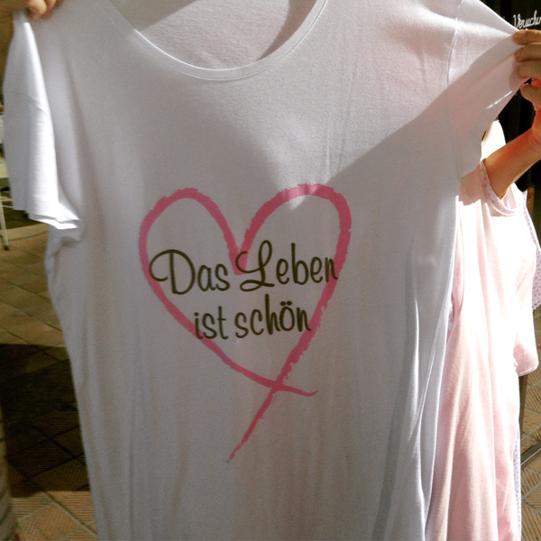Shirt Louis & Louisa Das leben ist schön