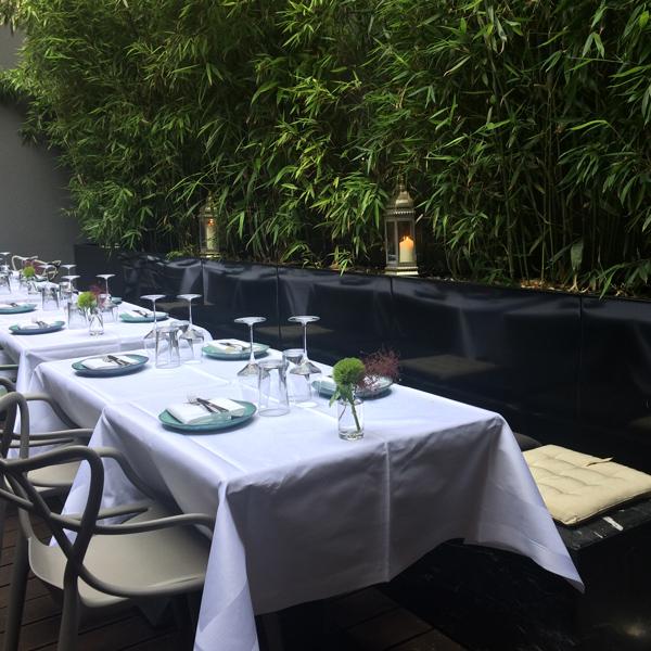 Innenhof des Restaurant Mani