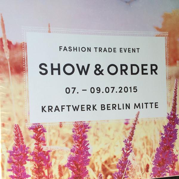 Messe Aushang Show & Order