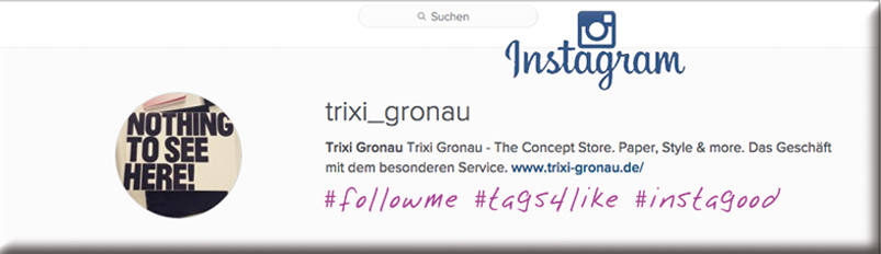 Instagram trixi gronau button