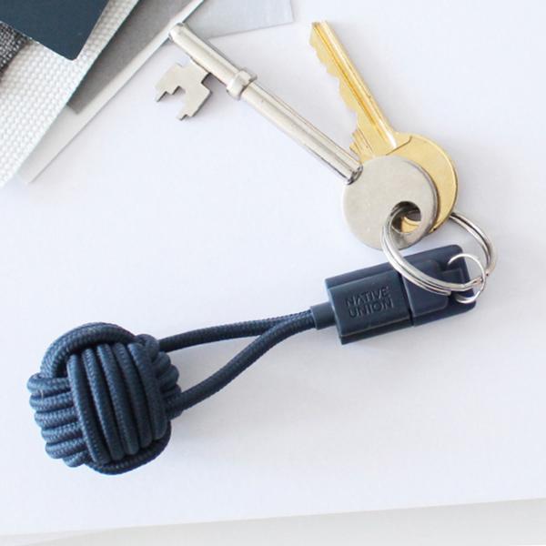 Ladekabel als Schlüsselanhänger in blau