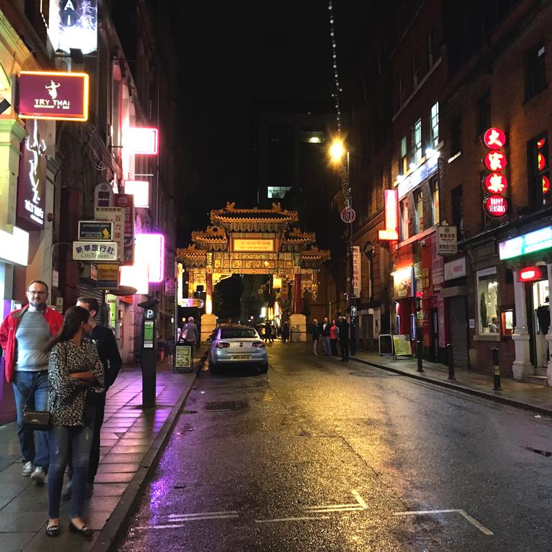 Manchester Chinatown, am Abend
