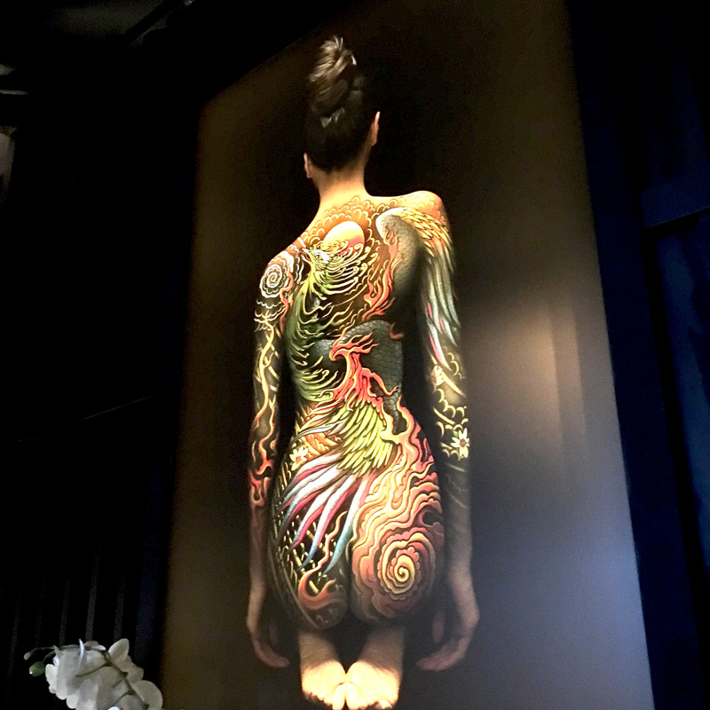 Tattu Restaurant in Spinningfield Mancester, Body Painting