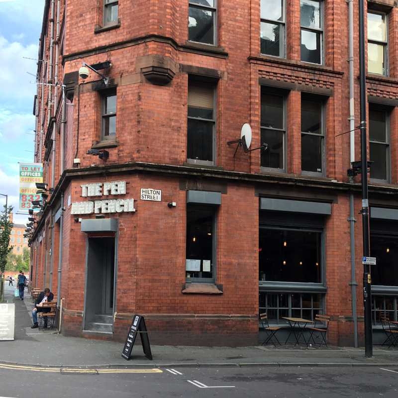 The pen and pencil pub in Manchester