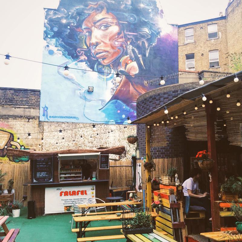 Brixton afro graffity