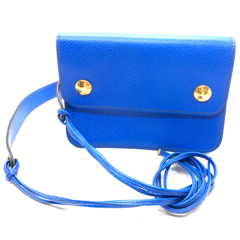 Hermes Vintage Couchevel Pouchette Belt Bag in blau