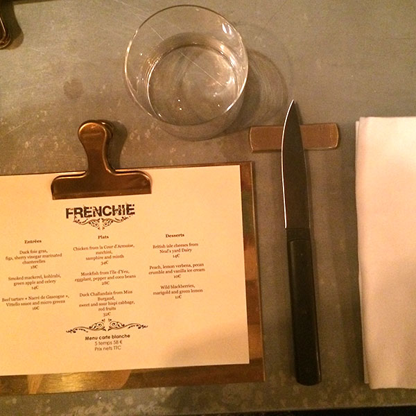 Frenchie Restaurant Paris