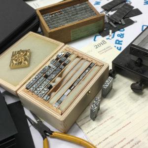 Letterpress Buchstaben
